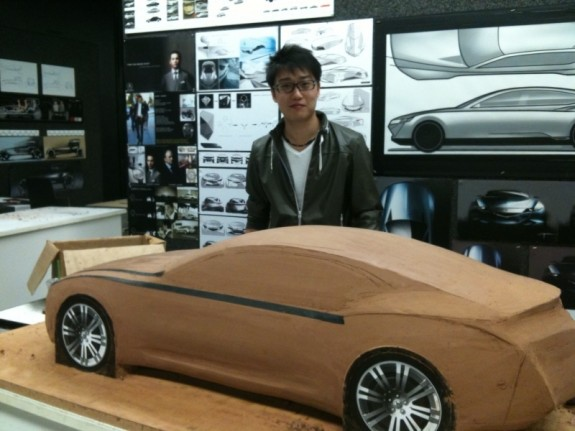 Chao Feng by his concept car