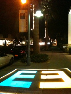 Modernism Week logo illuminated
