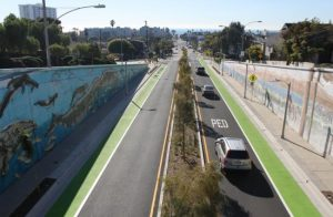 bike lanes on OPB, from the Santa Monica Mirror