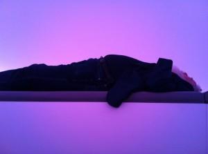 Turrell lying down