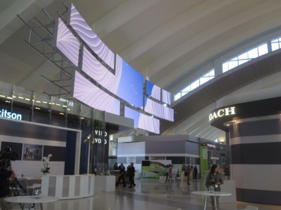 Digital art lit up at LAX