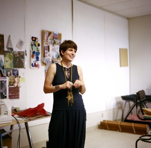 Jennifer Parry Dodge in her studio, photograph by Megan McIsaac