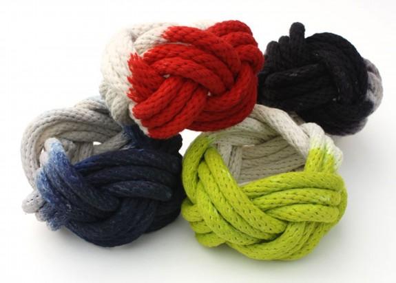Tanya Aguiniga_Dip dyed Turks Head rope bracelets