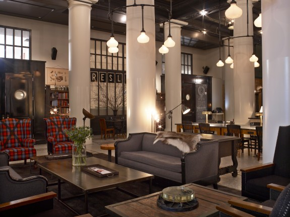 Ace hotel and the war on anything inauthentic design for Hotel lobby decor