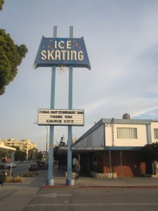 CC Ice Rink, Final Day Sign