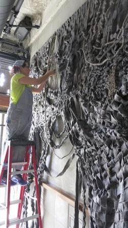 Tanya installing