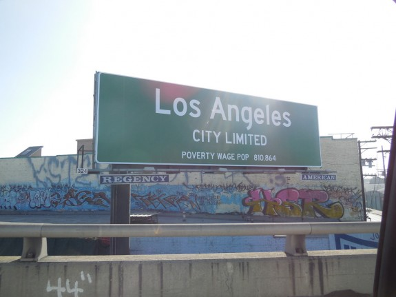 los angeles poverty wage billboard 3