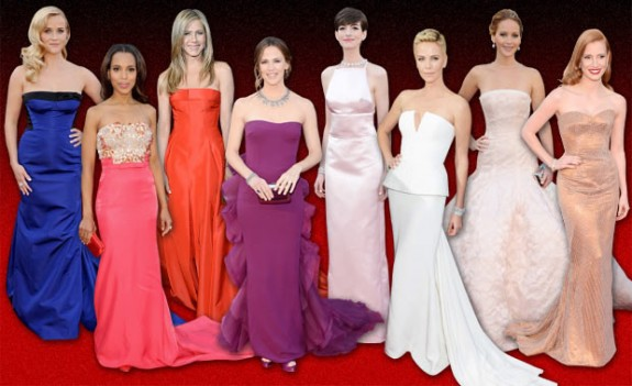 Gowns at Oscars 2013