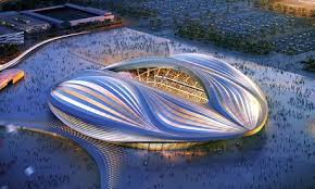 Qatar stadium by Zaha Hadid