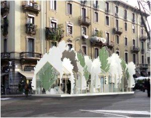 trees exhibit in milan