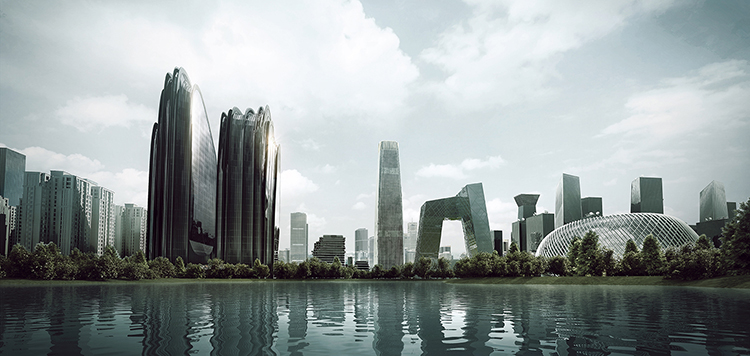 Chaoyang Park Plaza, MAD architects
