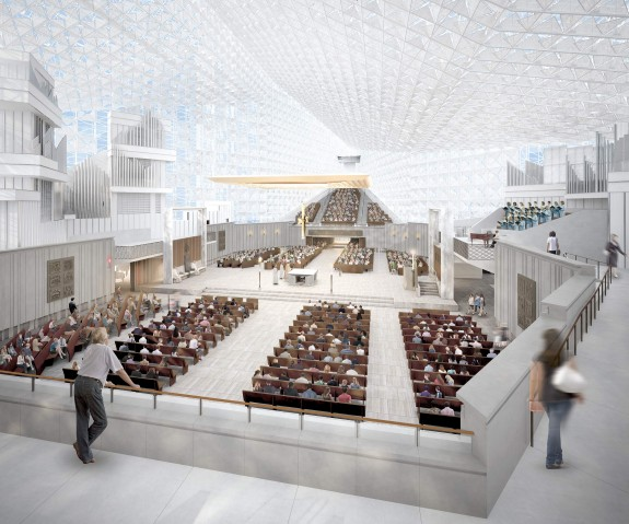 Christ Cathedral Interior from Above - Johnson Fain