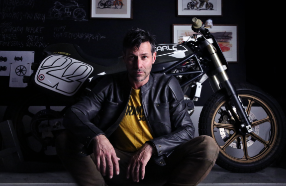 Portrait of Alex Earle with bike