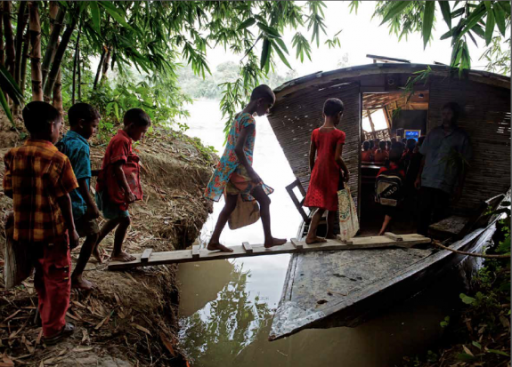 Floating School, Bangladesh, by Mohammed Rezwan for Shidhulai.org; photo by Jonas Bendiksen