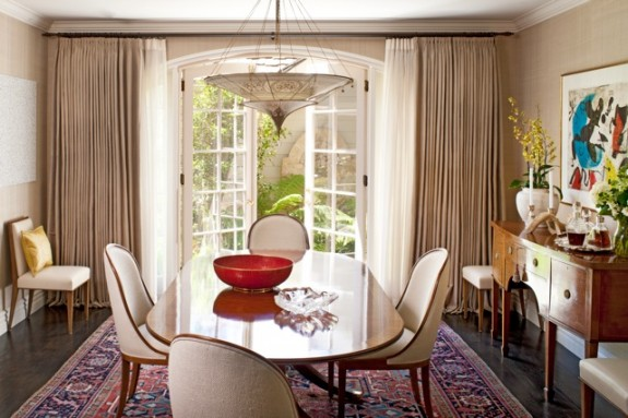 Dining room designed by Natasha Baradaran