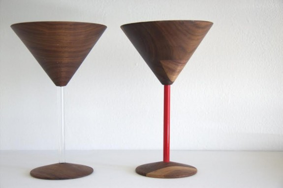 David Rasmussen Design, Wood Martini Glass, black walnut and acrylic (Photo- Christopher Olin)