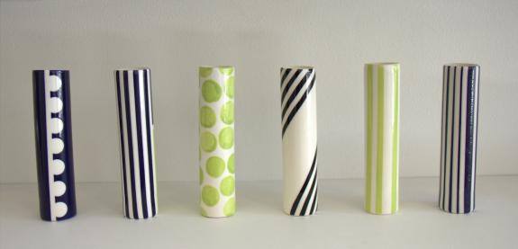Heather Mae Erickson champagne flutes, ceramic (photo: Christopher Olin)