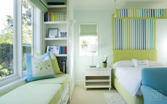 Bedroom for house in Brentwood, designed by Natasha Baradaran