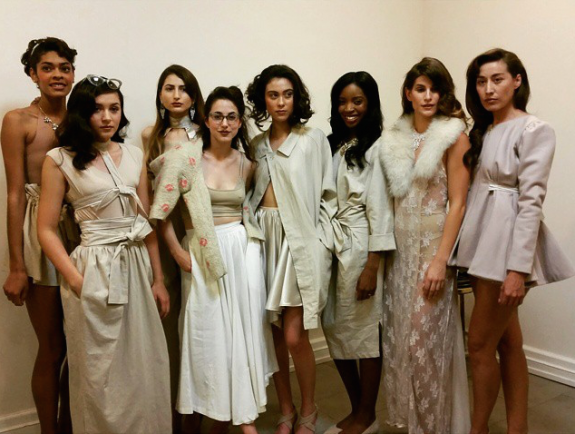 Back Stage with Models