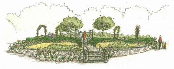 Center Circle Garden sketch