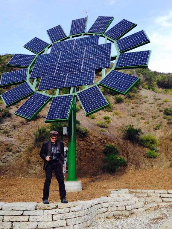 Filmmaker James Cameron Creates Solar Sun Flowers To