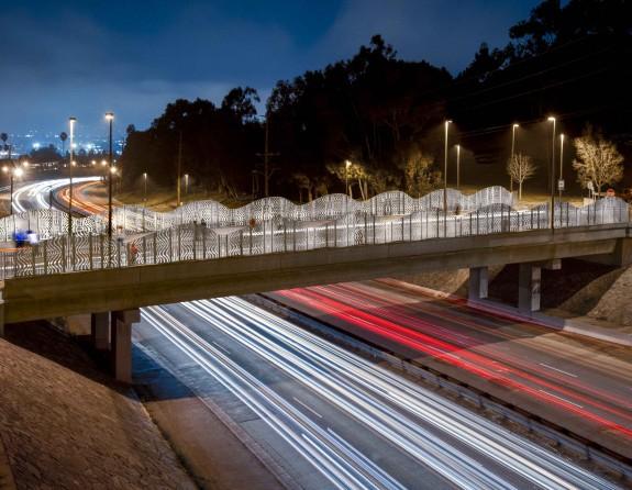 Kenneth Hahn Bridge, Baldwin Hills Gateway, by Cliff Garten