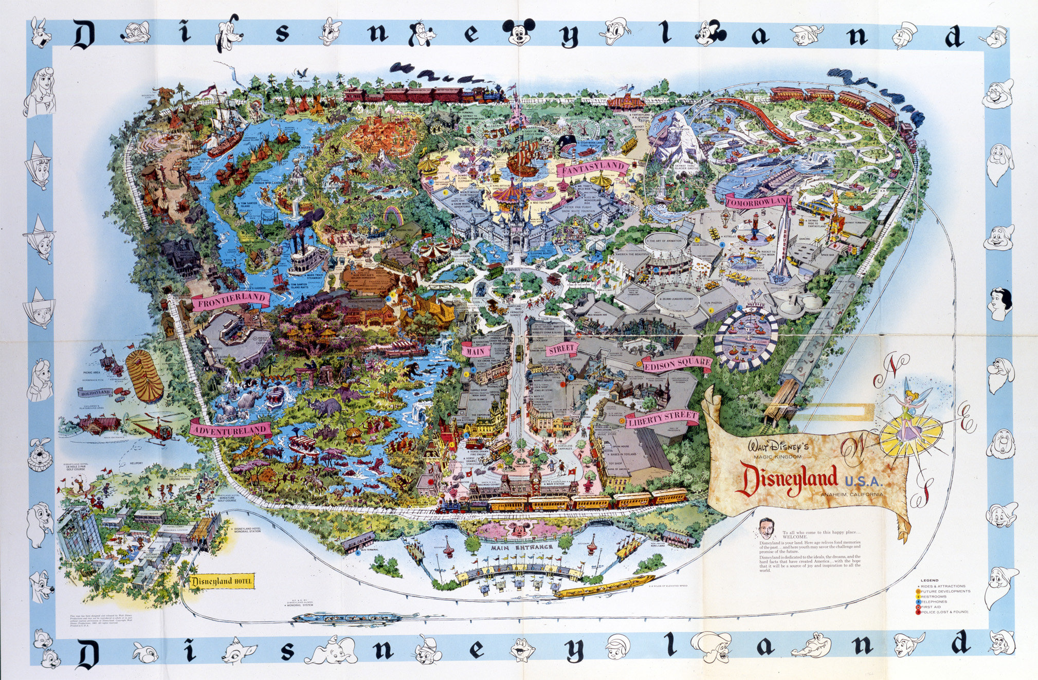 Disneyland Locations World Map.Disneyland S Evolution Through Maps Kcrw