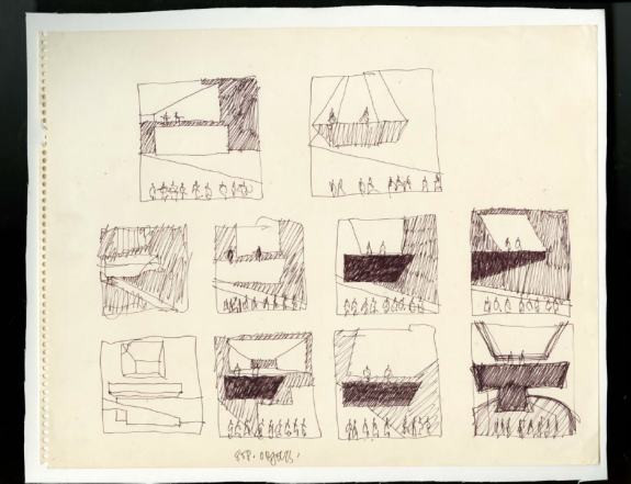 1983 sketch by Frank Gehry for Available Light