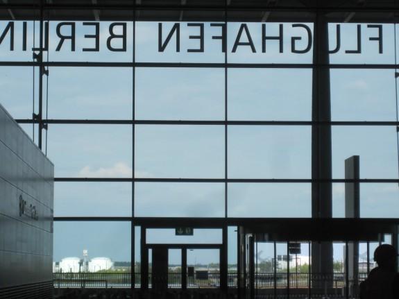 View back through window of Brandenburg