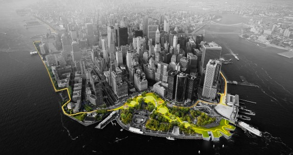 Big U Harbor Berm is part of a resiliency plan for New York by a team helmed by Bjarke Ingels.