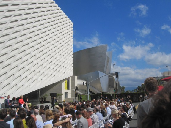 Broad Museum on the day of the press preview, September 16; photo by Frances Anderton