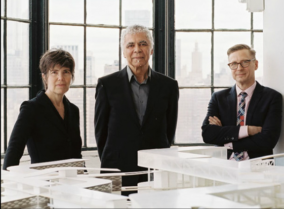 Elizabeth Diller, Ric Scofidio and Charles Renfro, partners at Diller Scofidio + Renfro