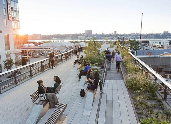 The High Line, New York City, designed with landscape architect James Corner. Photo courtesy DS+R