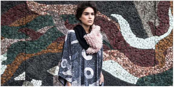 Nova Snood, Galactic print dress. Archive piece from the 2014 Fall/Winter Collection