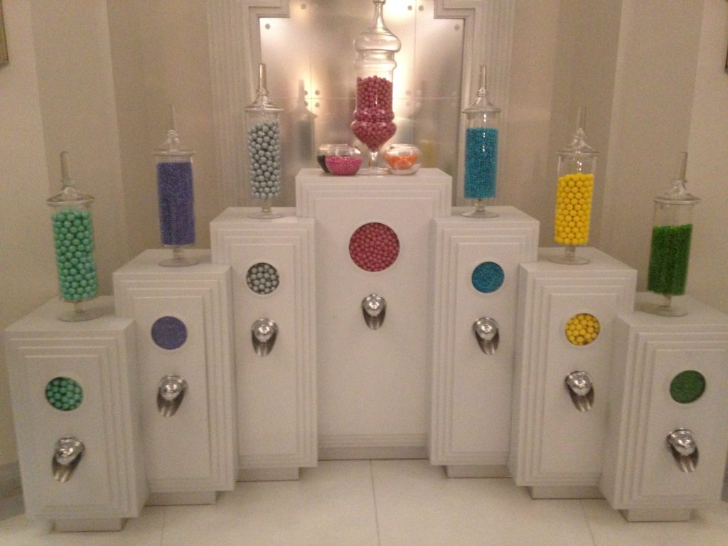 "The candy dispensers in ""the nursery."" Photo credit Avishay Artsy."