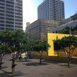 Yellow Structure in Pershing Square, photo Avishay Artsy