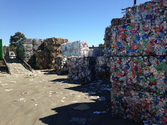 bales of recyclables