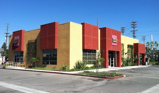 Wells Fargo in San Fernando Valley; its similarity to Taco Bell reflects changing roles for banks in the 1980s, says Wendy Gilmartin.