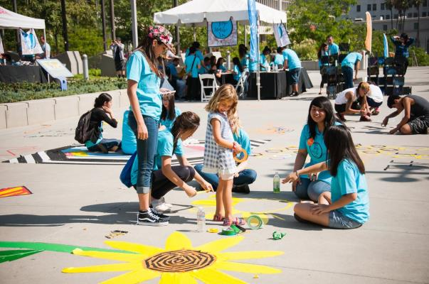 Ryman Arts will host The Big Draw LA's flagship event in Grand Park on Sunday, October 18.