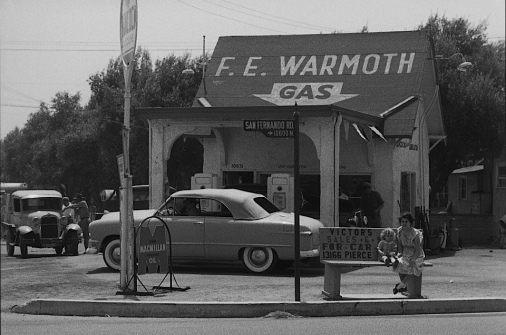 """A still image of San Fernando Rd. from """"Lost Landscapes of Los Angeles"""""""