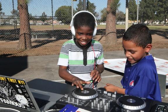 kids spin tunes