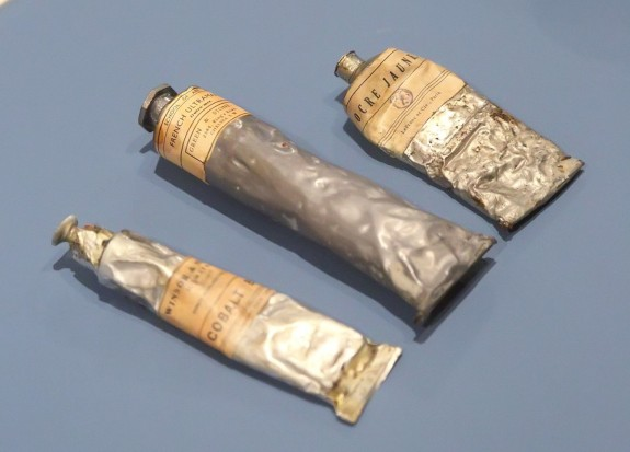 Tubes of oil paint created by John Griswold