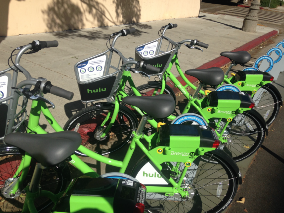 Santa Monica's new bike share program does its bit to reign in emissions.
