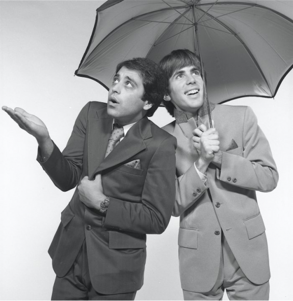 The Dark Bob, left, and Light Bob, performing as Bob and Bob in the mid-70s.