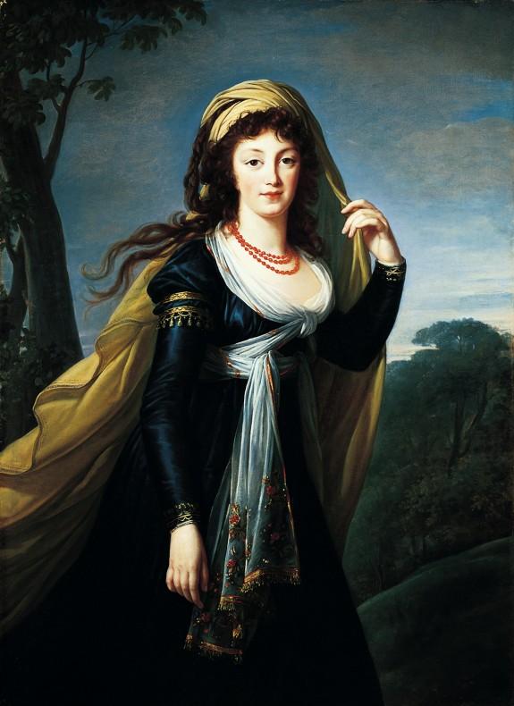 Portrait of Theresa, Countess Kinsky,1793; Marie-Louise-Elisabeth Vigée-Lebrun, French, 1755-1842, Oil on canvas, Norton Simon Art Foundation