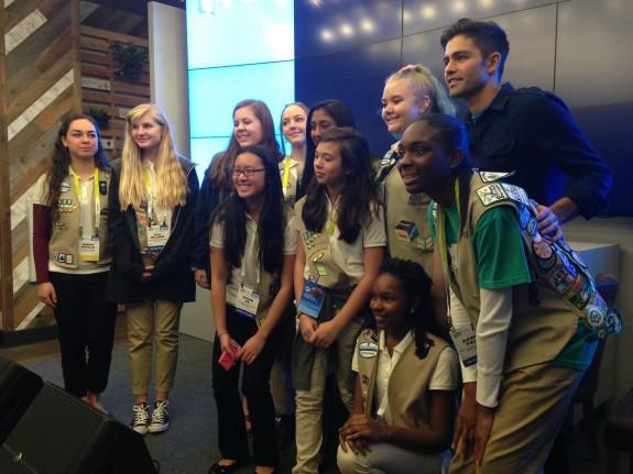 Girl Scouts meet Adrian Grenier
