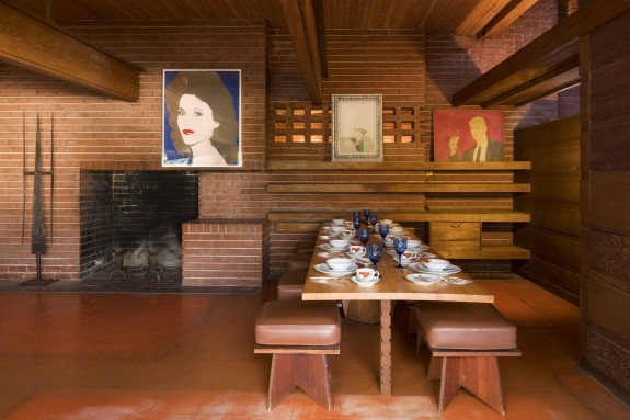 Storied sturges house seeks loving owner design for Frank lloyd wright interior designs
