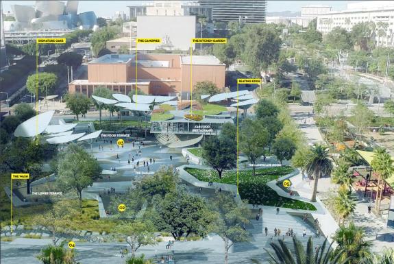 Park design by Mia Lehrer Associates