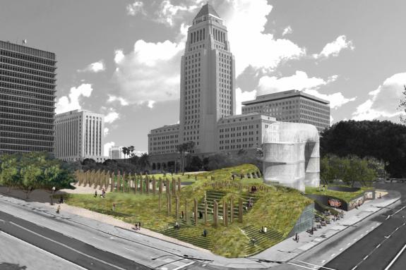Park design by Eric Owen Moss Architects
