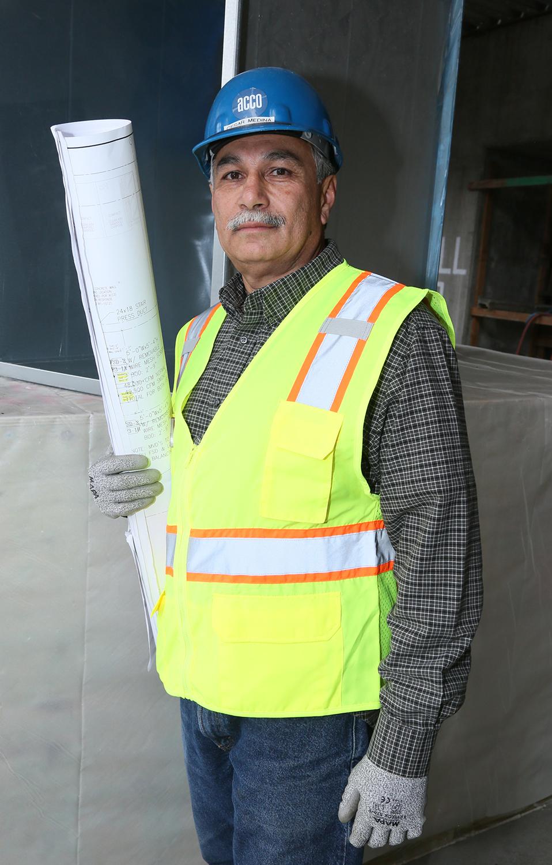 Cesar Medina, with Sheet Metal Workers Local 105.